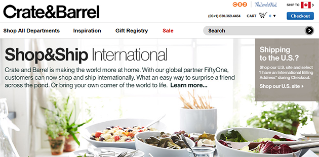 Crate and Barrel Outlets. You will find Crate and Barrel outlet stores in a number of locations throughout the United States. If there is not an outlet store near you, this is a great excuse to take an outlet shopping vacation. After all, wherever you decide to go for your outlet shopping trip, there are always going to be many other things to.