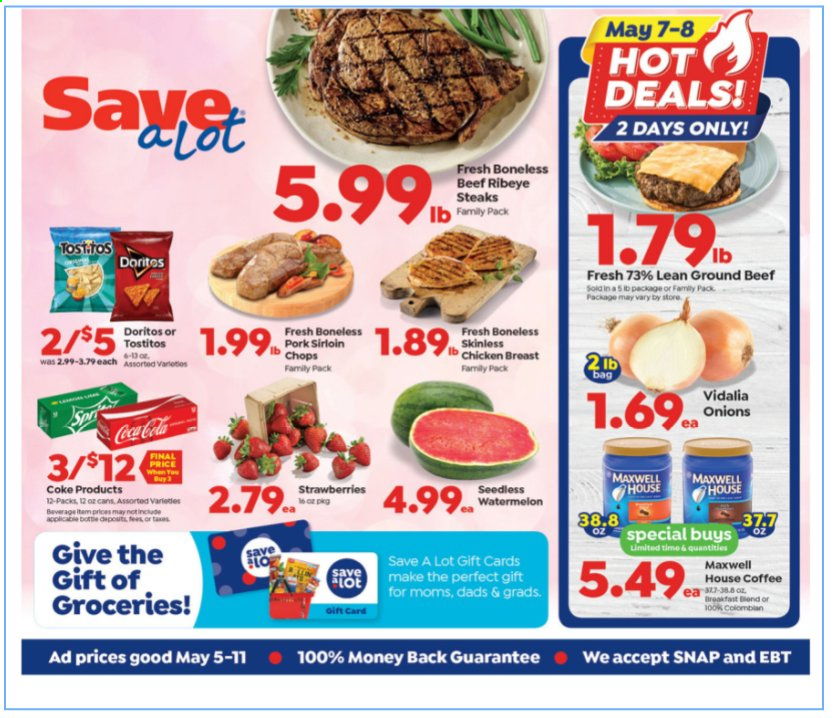 Save A Lot Ad from may 5 to 11 2021