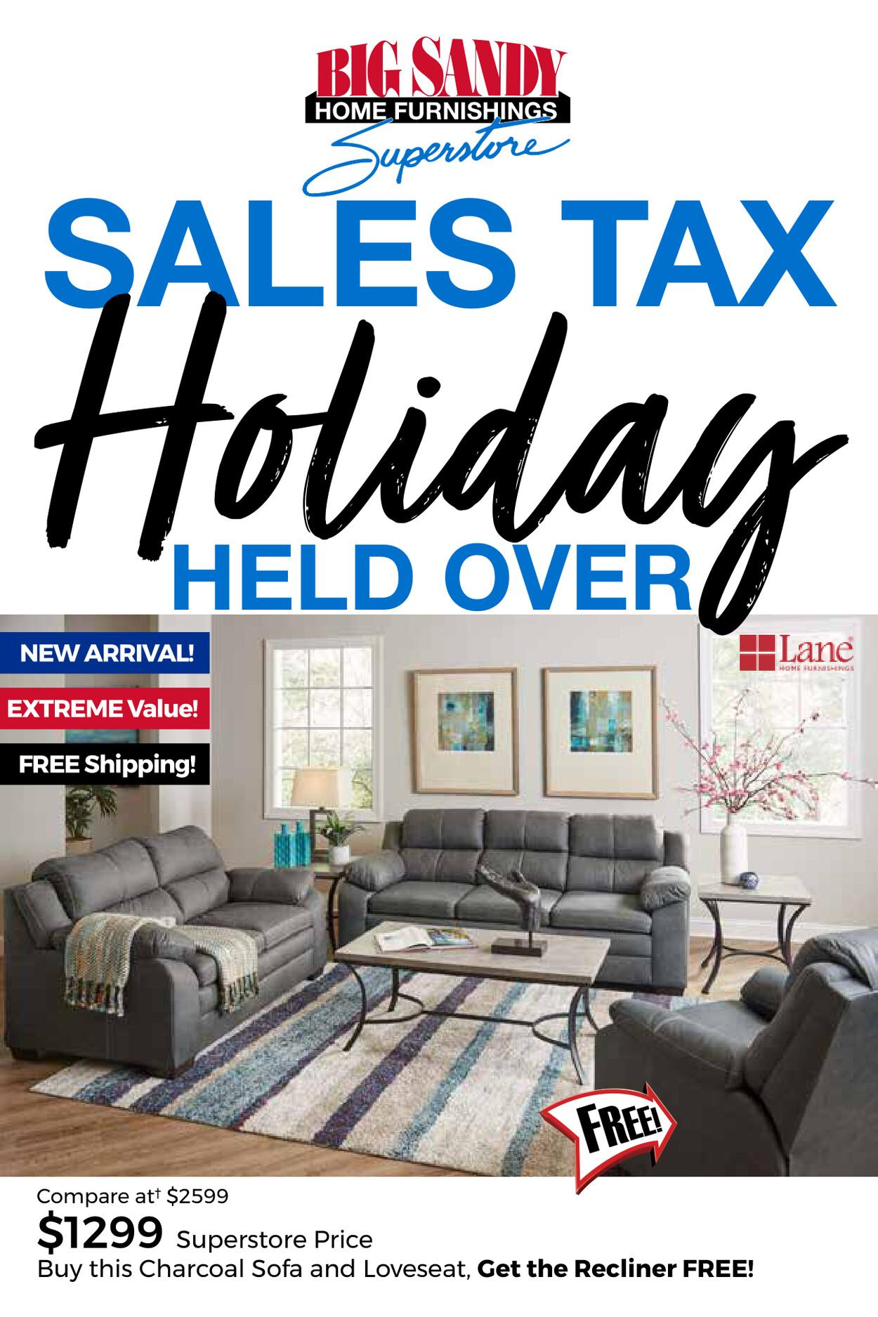 Sales Tax Holiday Held Over