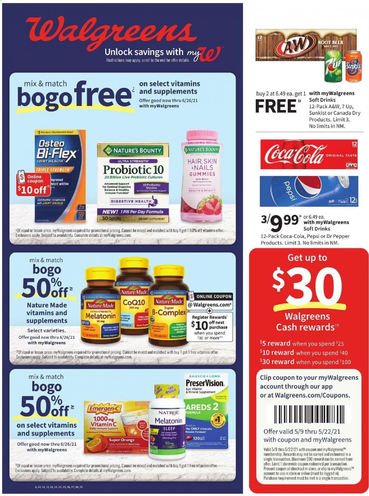 Walgreens myWalgreens Ad from may 9 to 15 2021