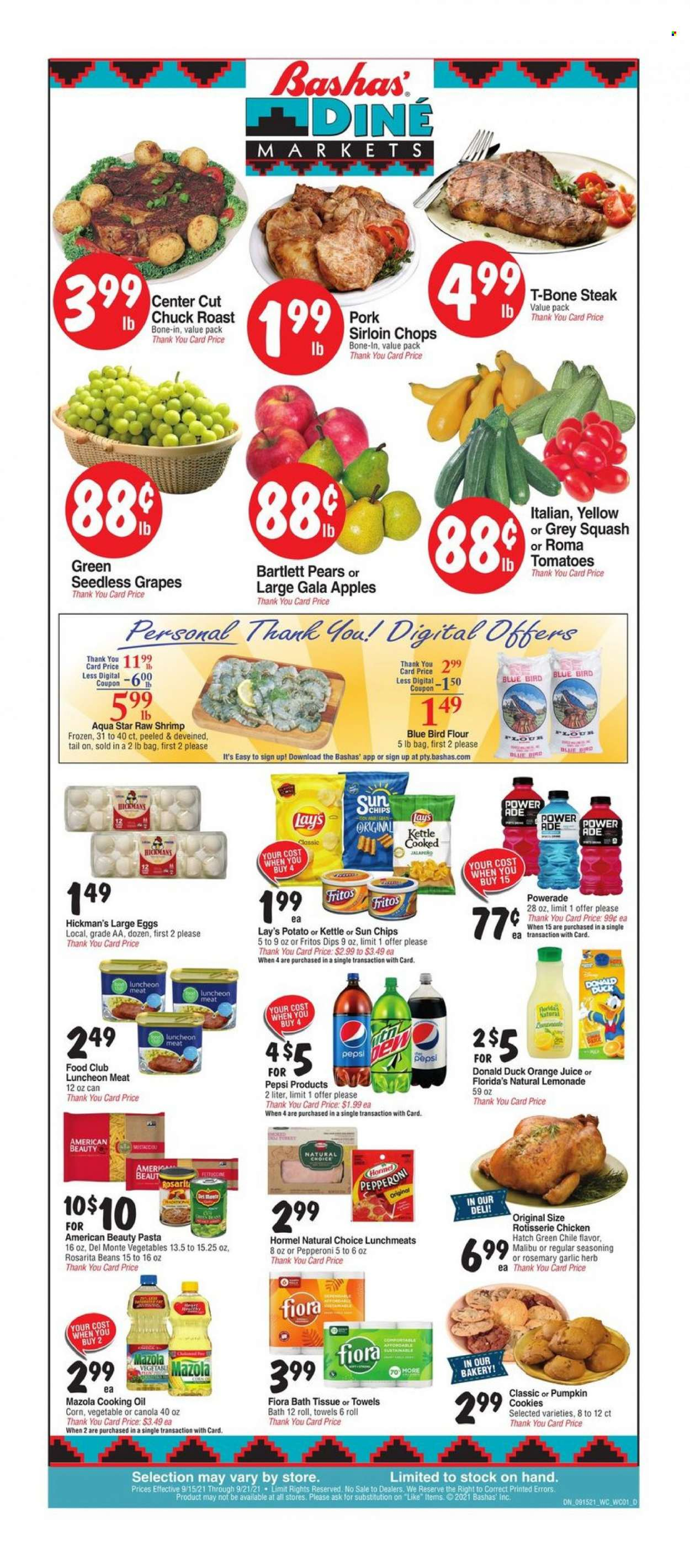 Bashas Diné Markets Ad from september 15 to 21 2021 - Page 1