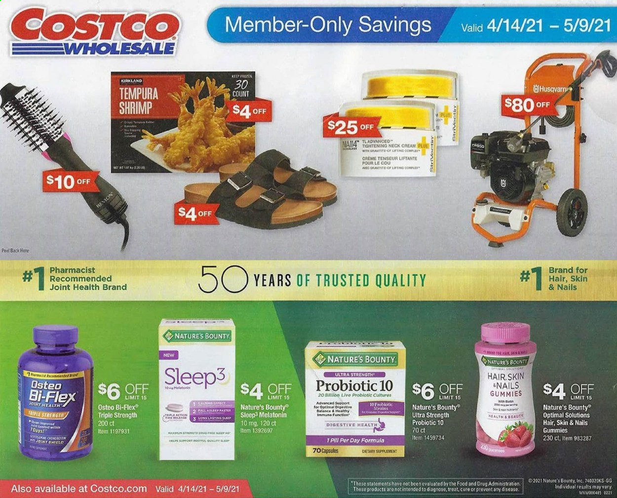 Costco Ad from april 14 to may 9 2021