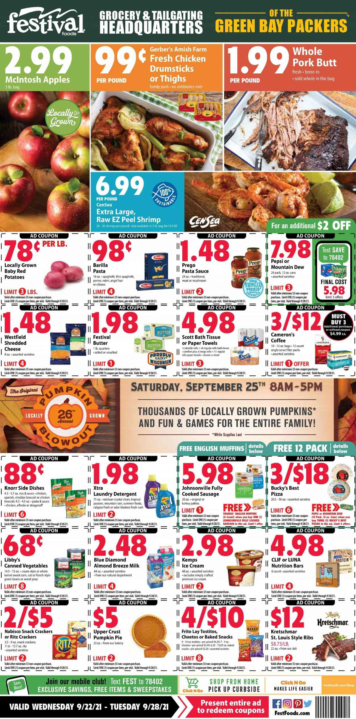 Festival Foods Ad from september 22 to 28 2021 - Page 1
