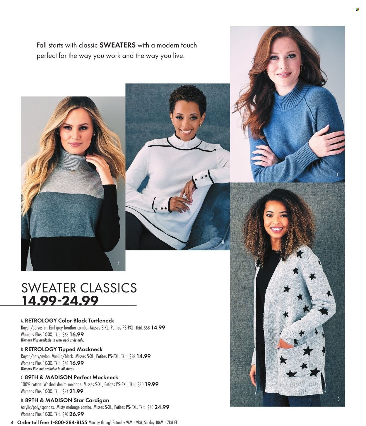 Boscov's Fall Clothing Ad from september 23 to october 6 2021 - Page 4