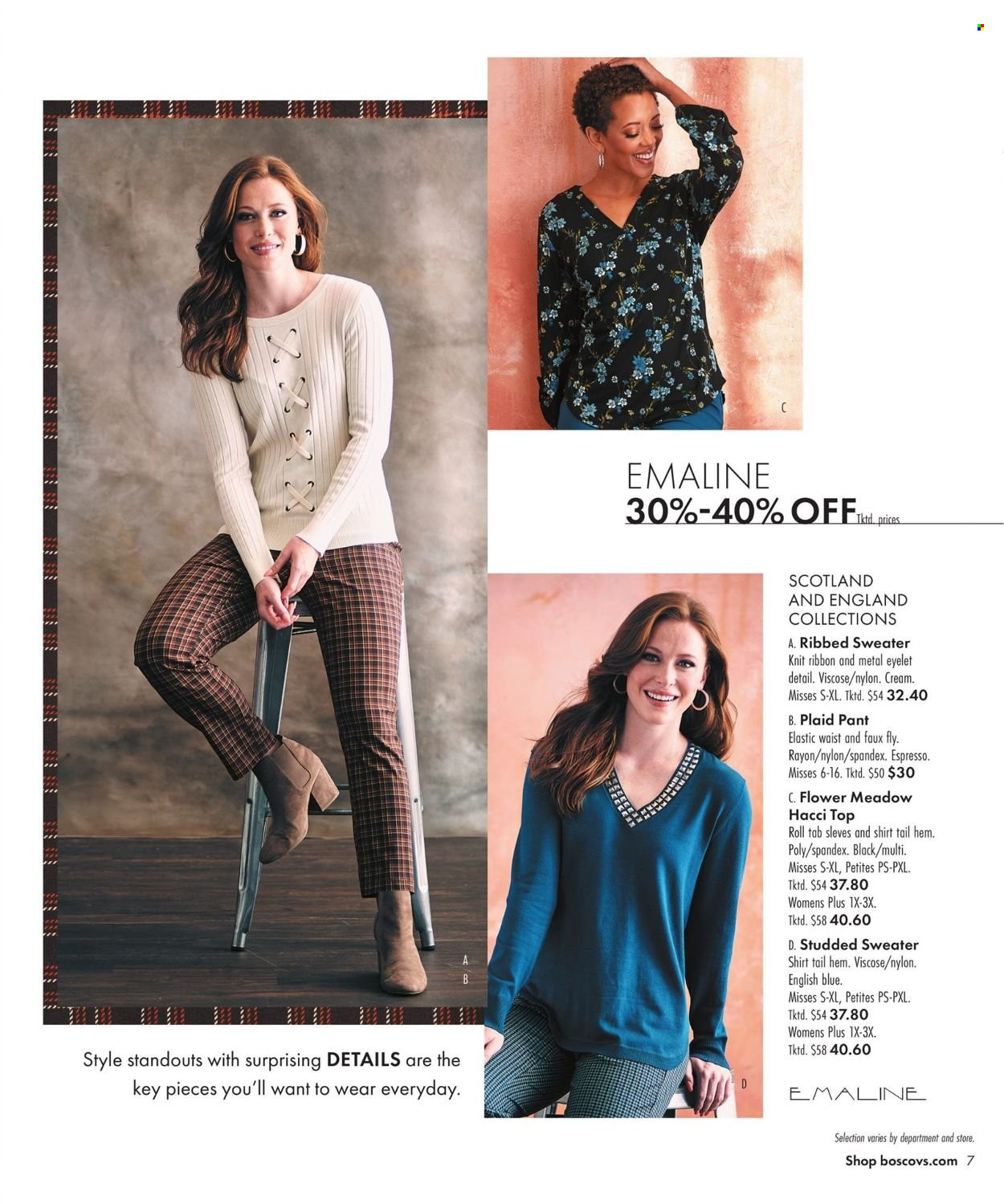 Boscov's Fall Clothing Ad from september 23 to october 6 2021 - Page 7