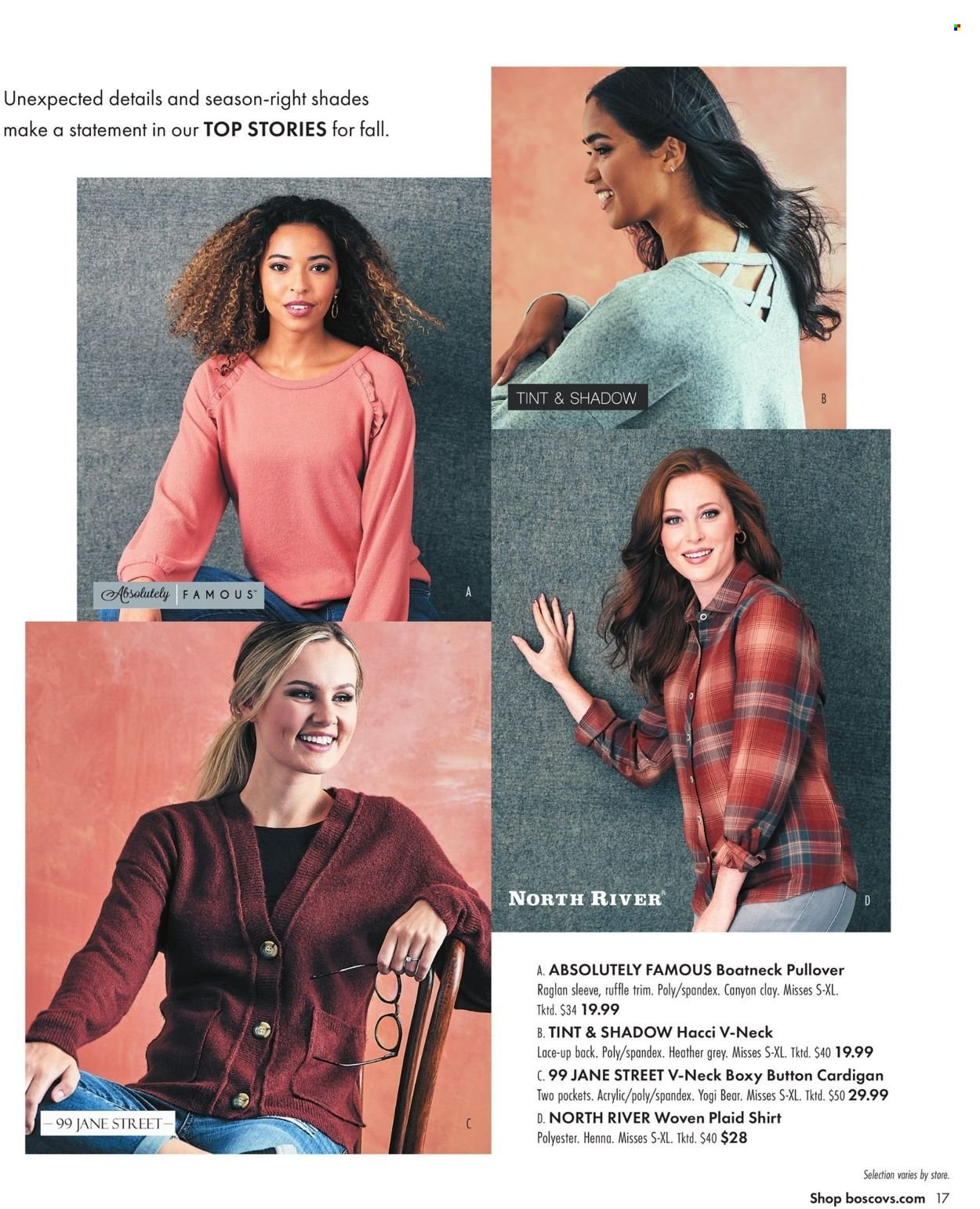 Boscov's Fall Clothing Ad from september 23 to october 6 2021 - Page 17