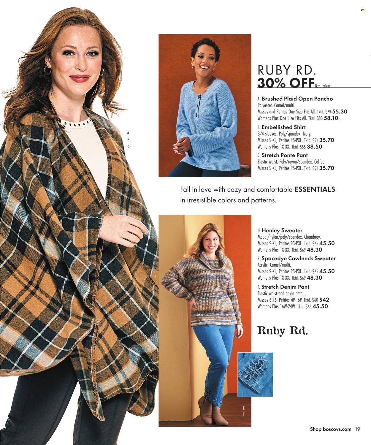 Boscov's Fall Clothing Ad from september 23 to october 6 2021 - Page 19