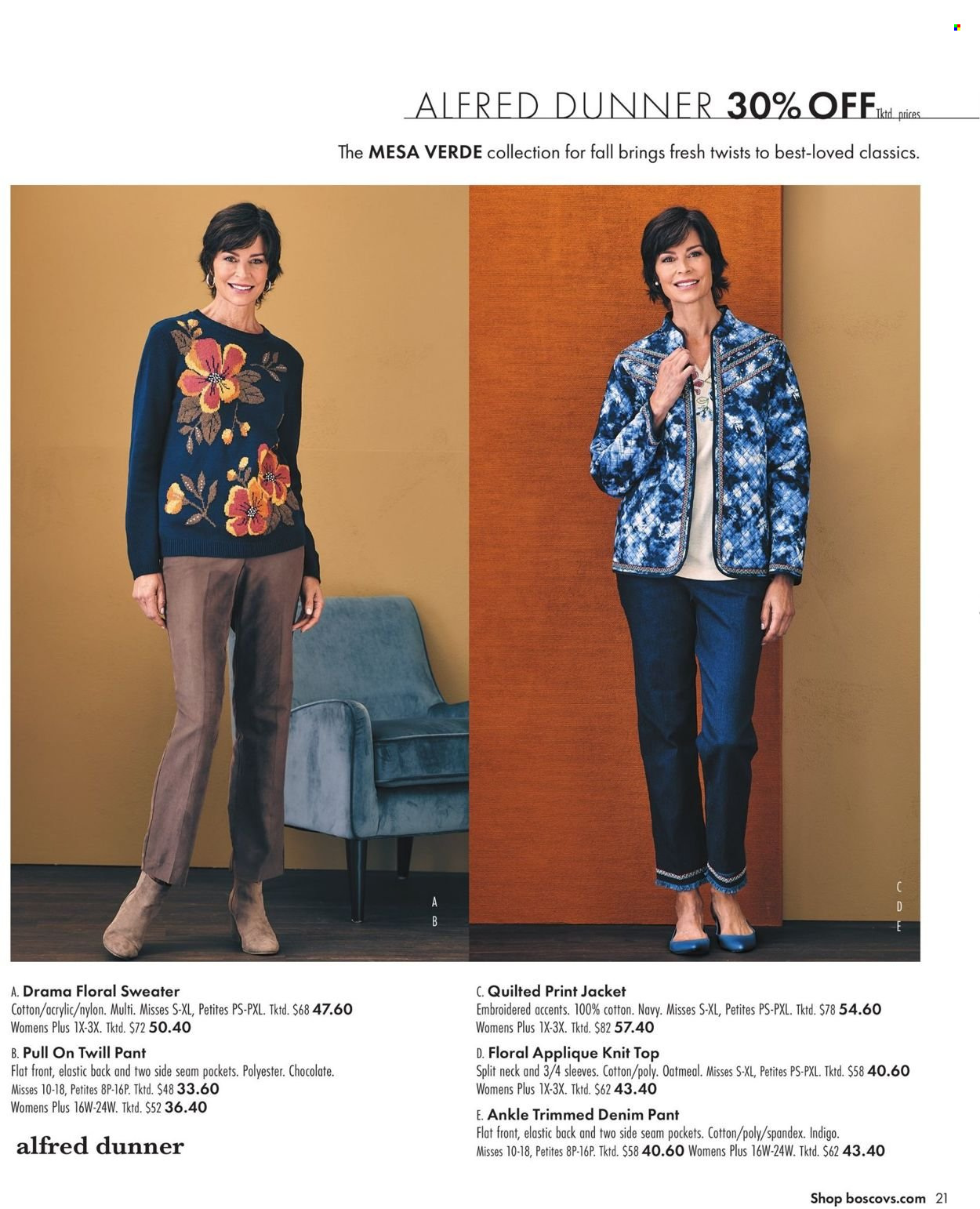 Boscov's Fall Clothing Ad from september 23 to october 6 2021 - Page 21