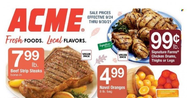ACME Markets Ad from september 24 to 30 2021