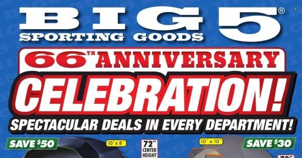 Big 5 Sporting Goods current Flyer online