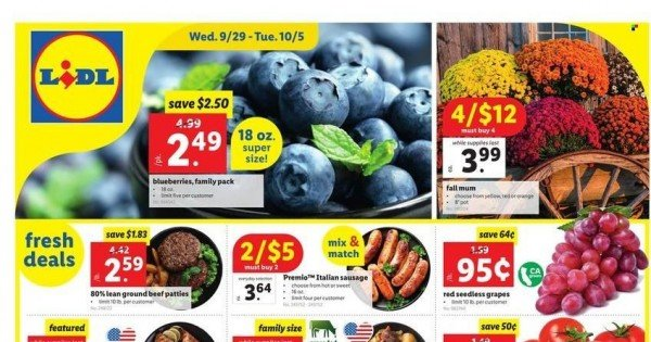 Lidl Ad from september 29 to october 5 2021