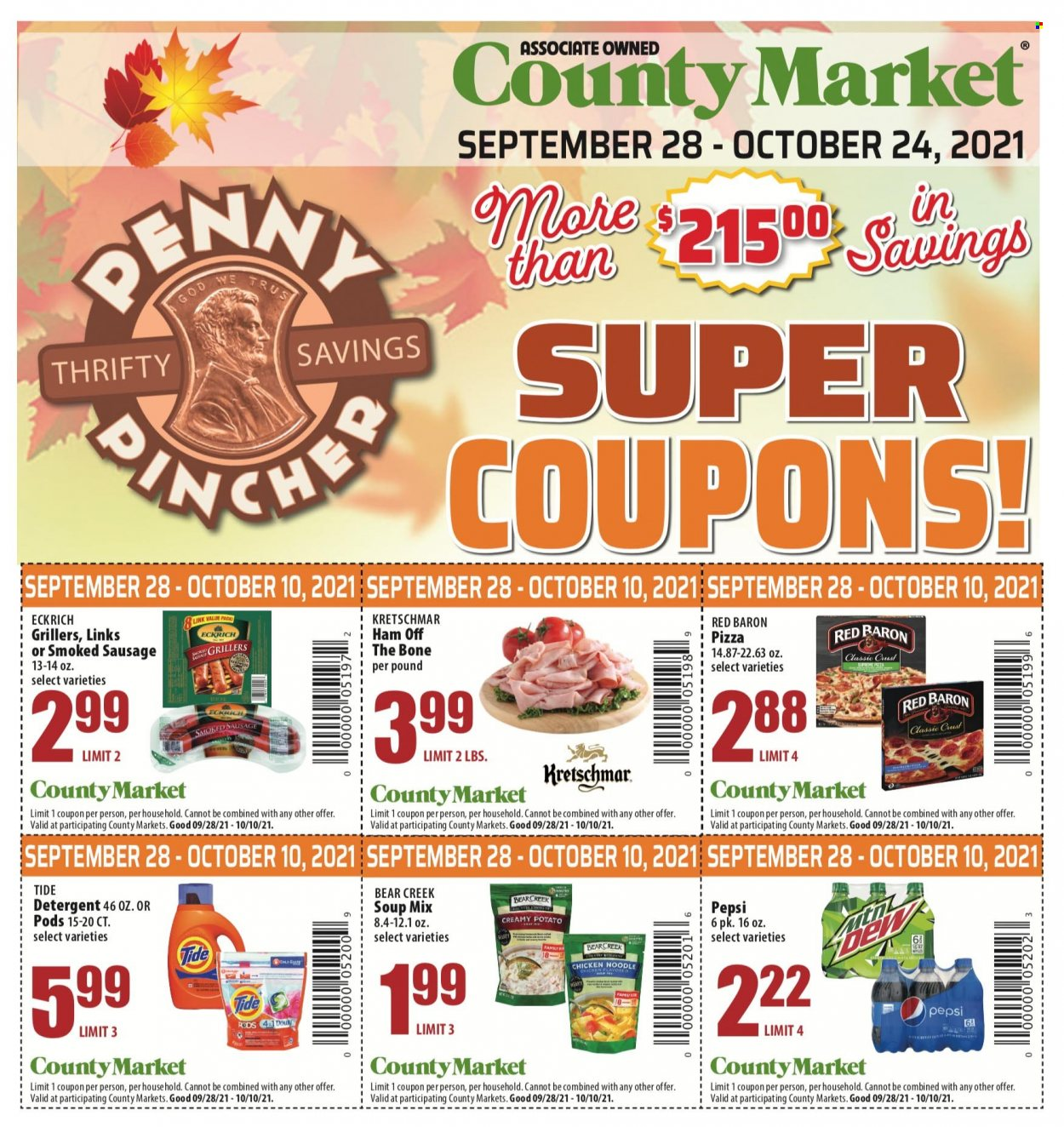 County Market Coupons from september 28 to october 24 2021 - Page 1