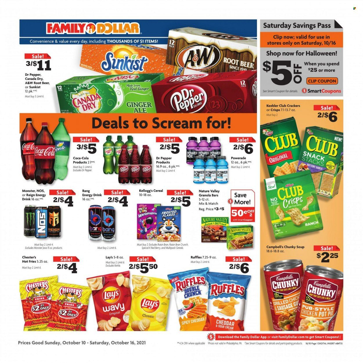Family Dollar Ad from october 10 to 17 2021 - Page 1