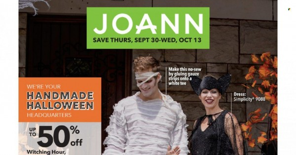 Joann Ad from october 13 to 20 2021