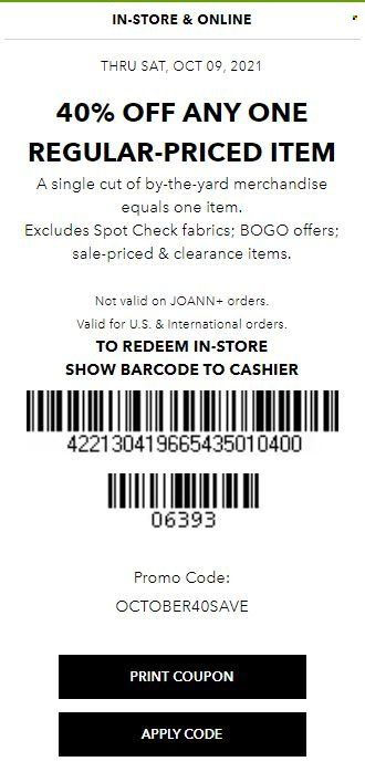 Joann Specials & Coupon from october 13 to 20 2021 - Page 2