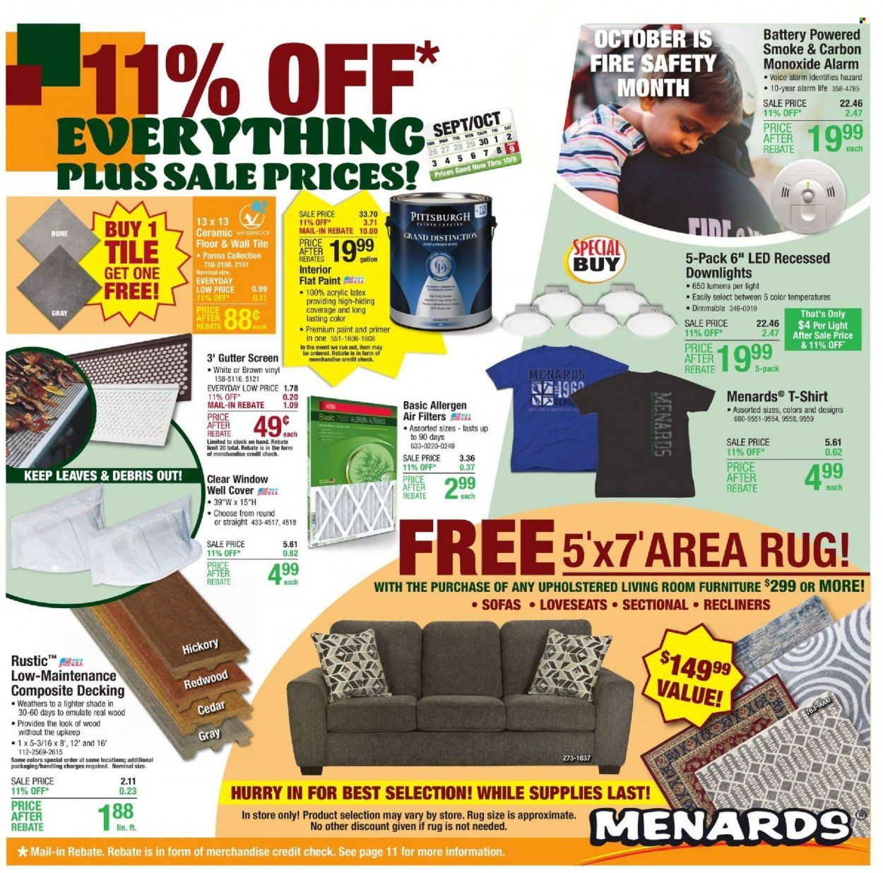 Menards Ad from october 9 to 16 2021 - Page 1