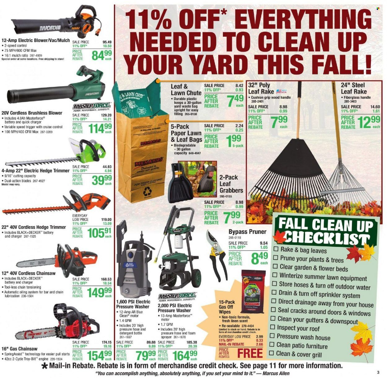 Menards Ad from october 9 to 16 2021 - Page 3