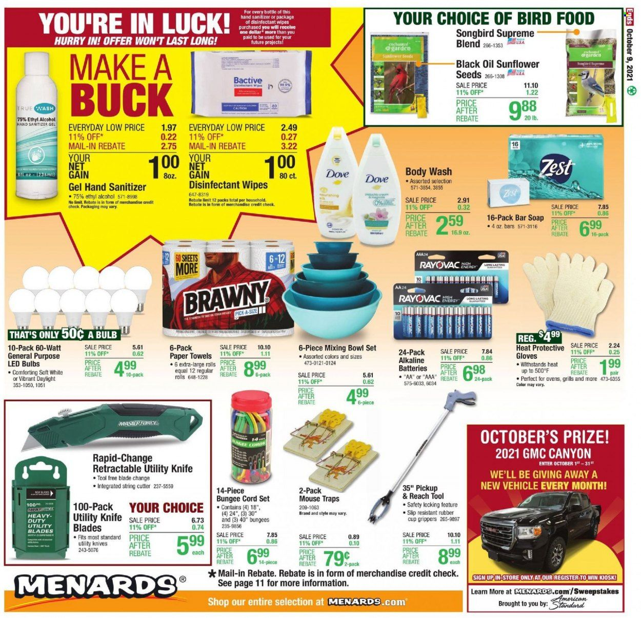 Menards Ad from october 9 to 16 2021 - Page 18
