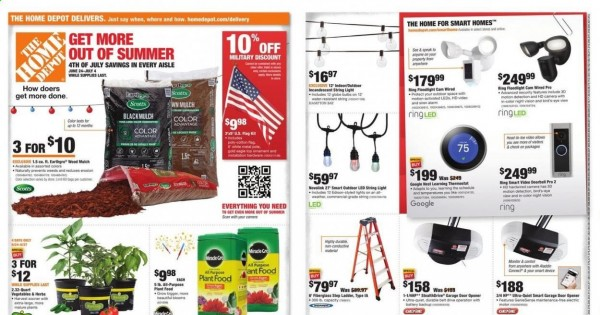 Home Depot Ad from june 24 to july 4 2021