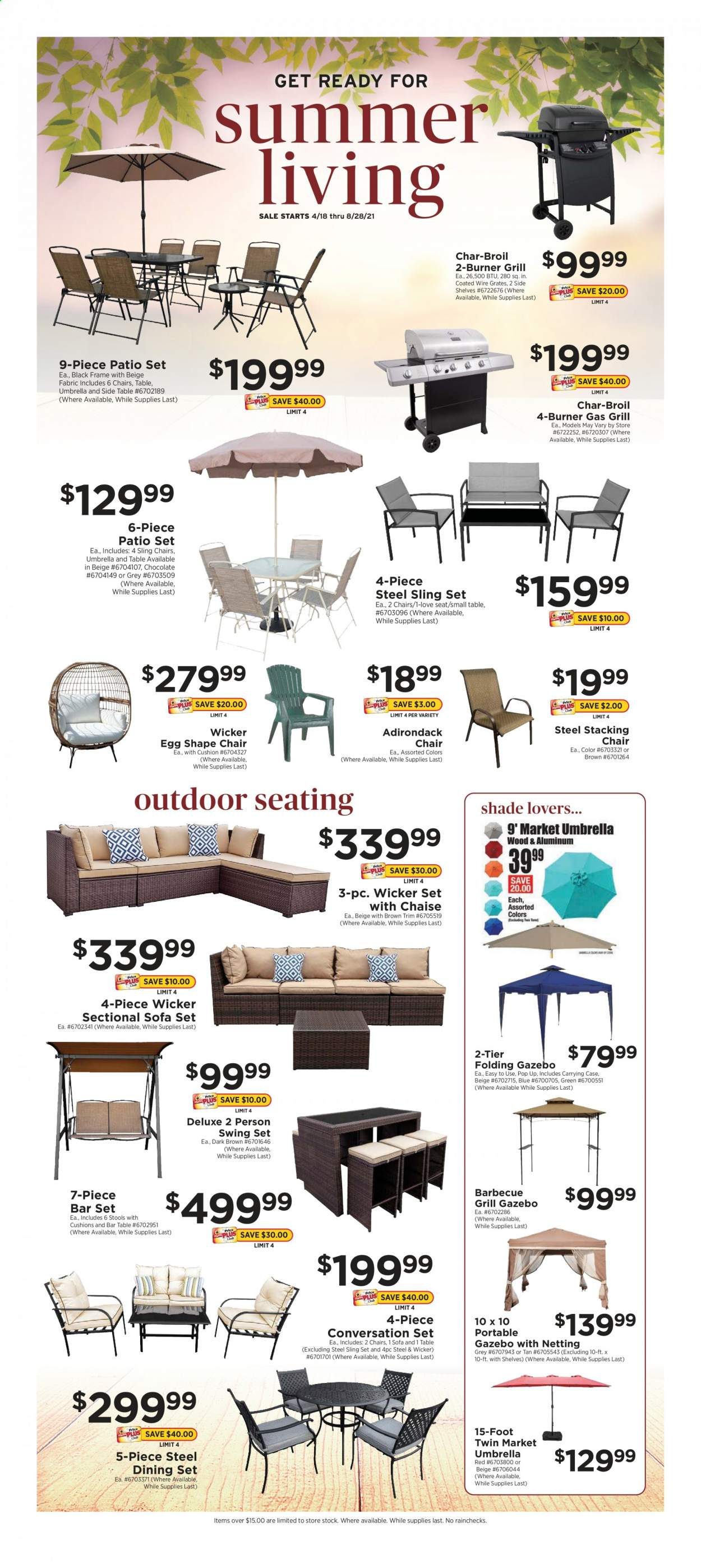 ShopRite Summer Living Ad from april 18 to august 28 2021