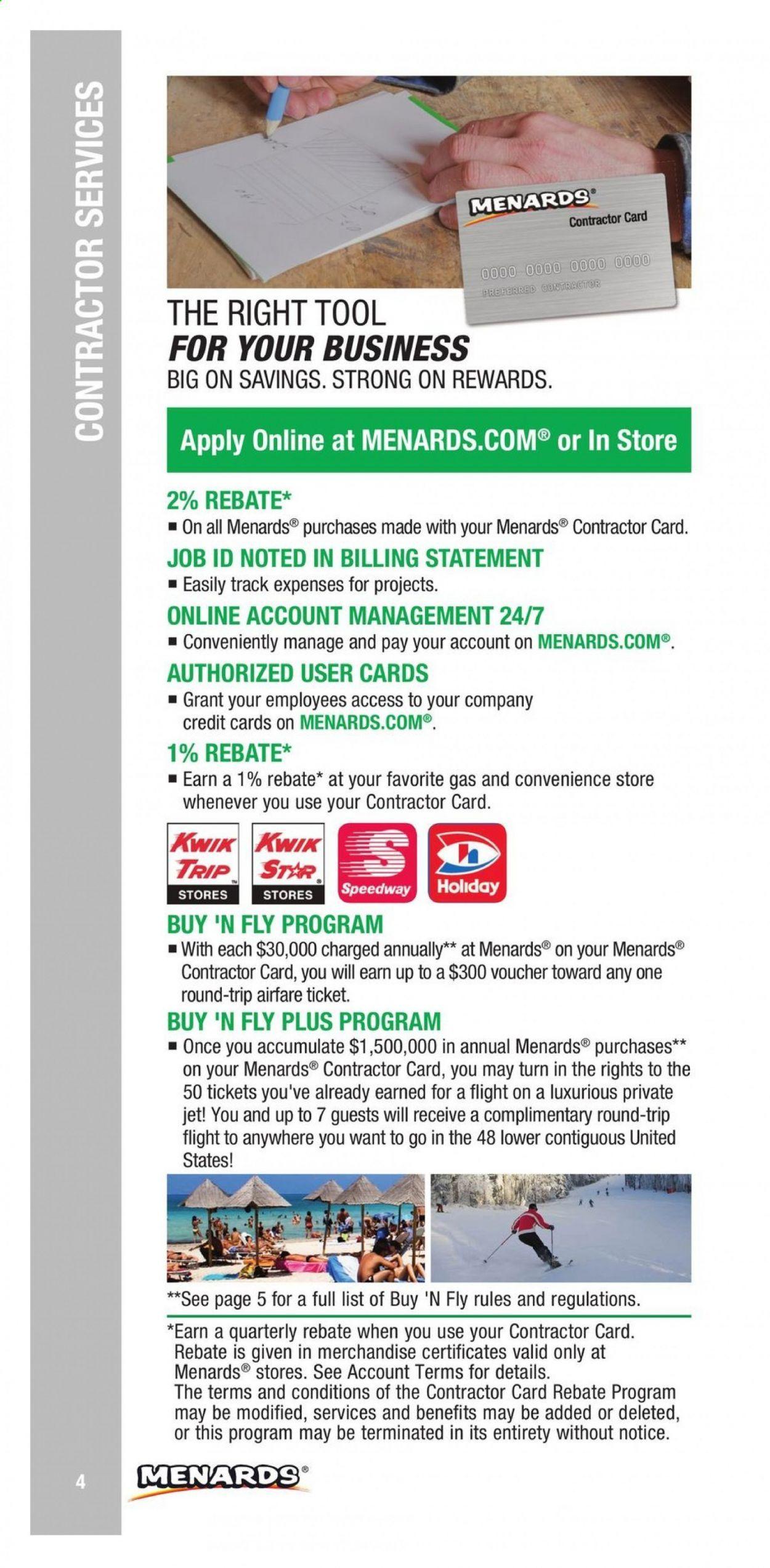 Menards Contractor Rebate Program 2021 - Page 4