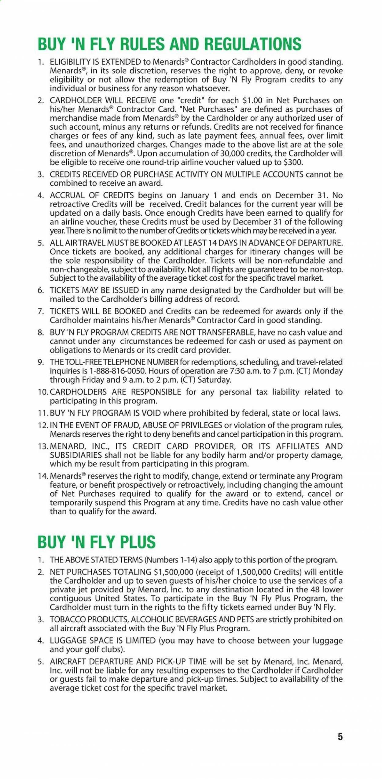 Menards Contractor Rebate Program 2021 - Page 5