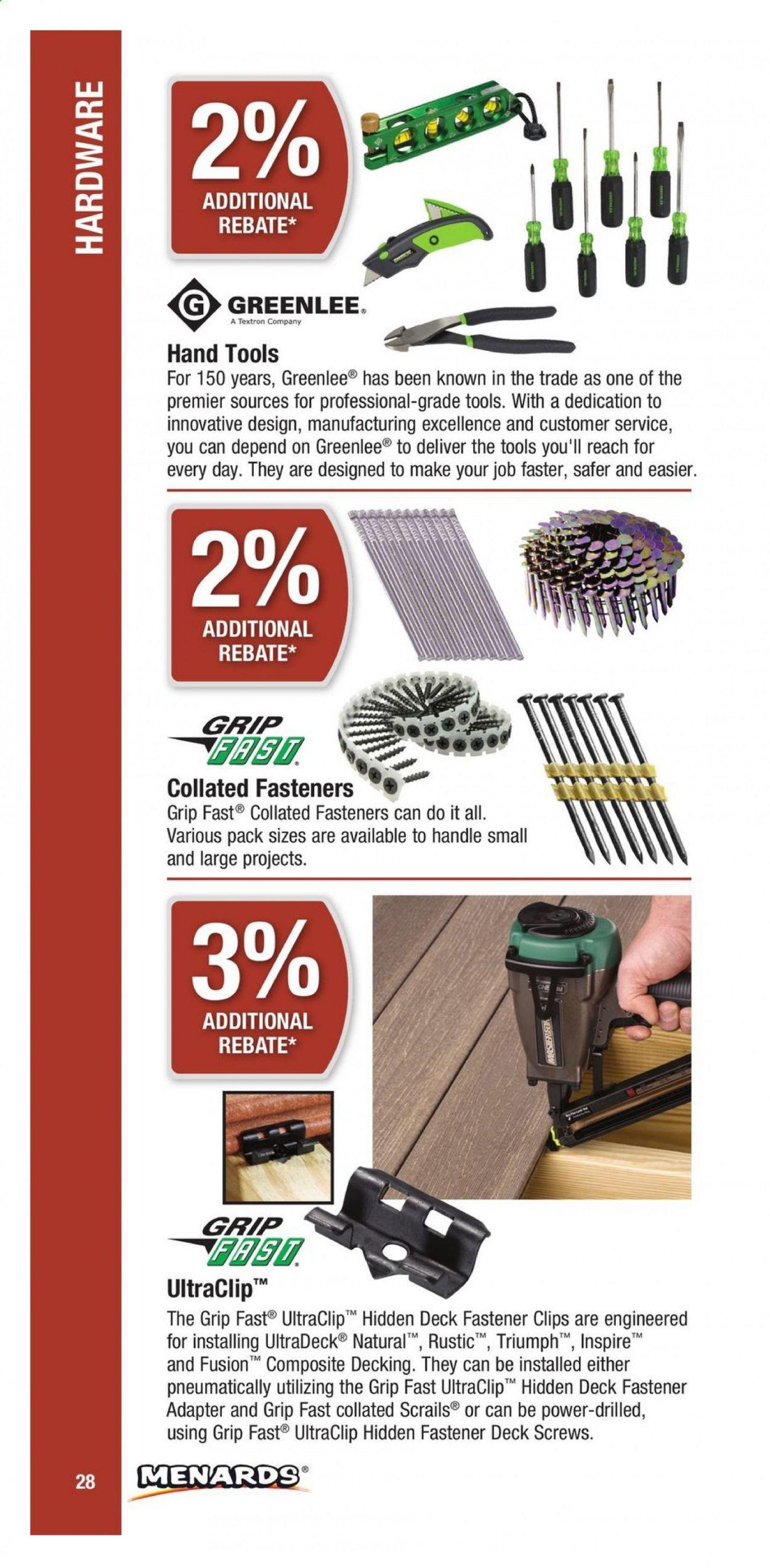 Menards Contractor Rebate Program 2021 - Page 28
