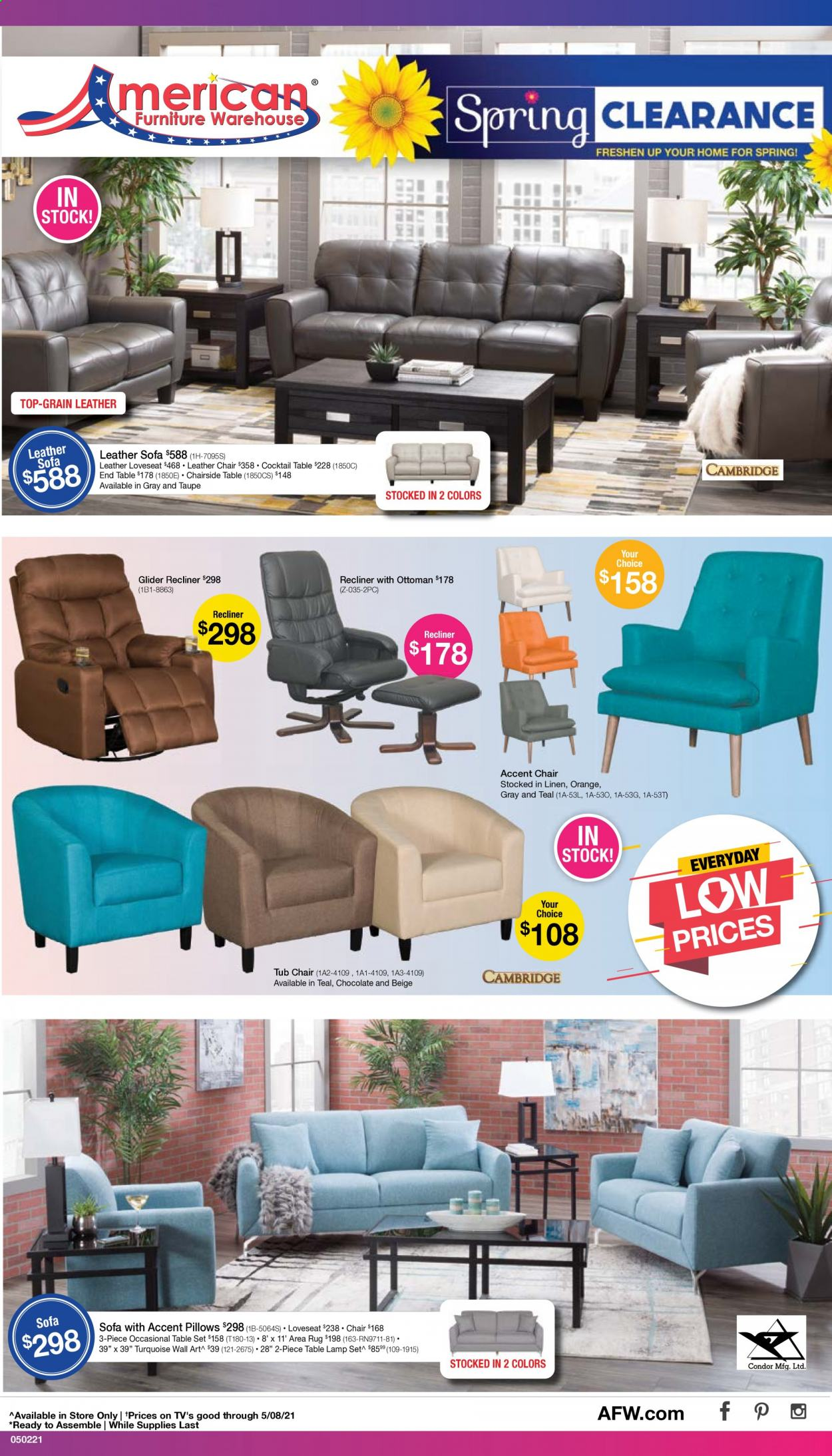 American Furniture Warehouse Ad from may 2 to 8 2021