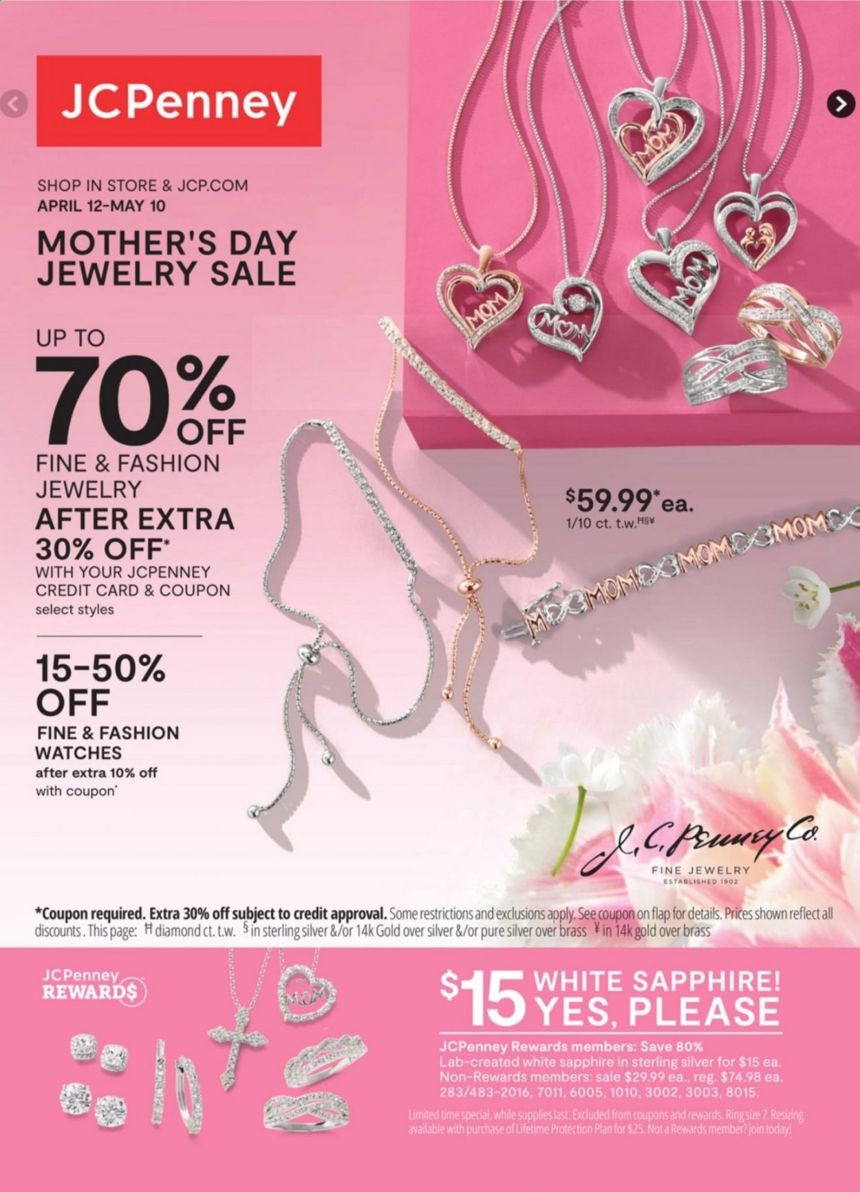 JCPenney Jewelry Sale from april 12 to may 10 2021
