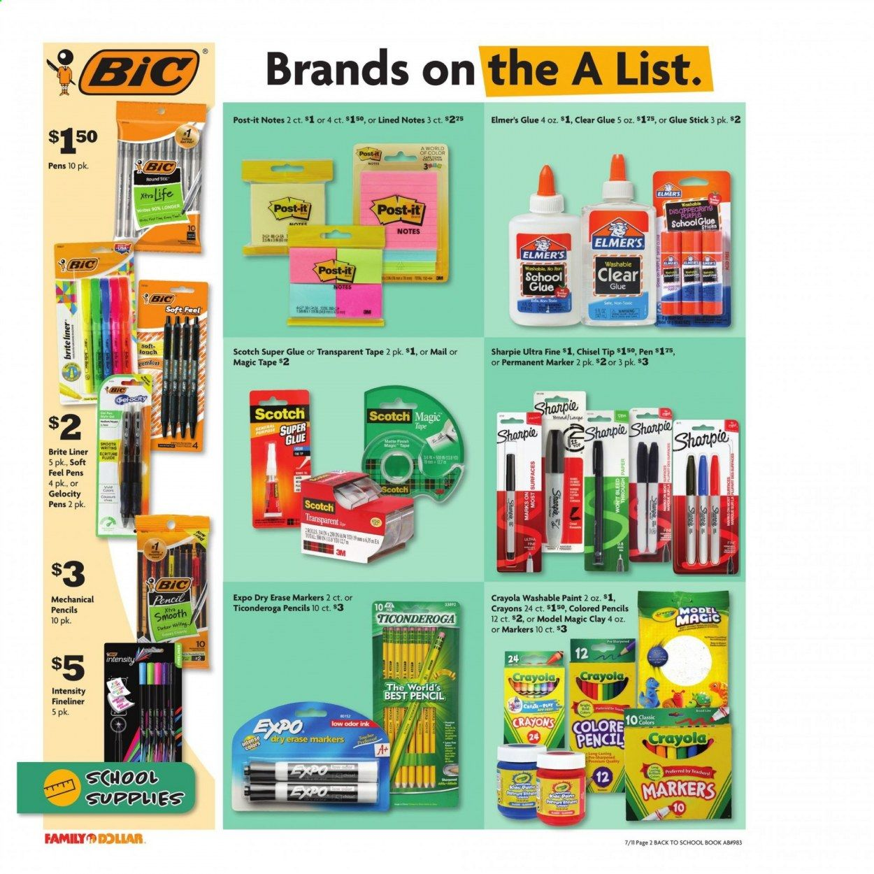 Family Dollar Back to School Ad from july 11 to august 14 2021 - Page 3