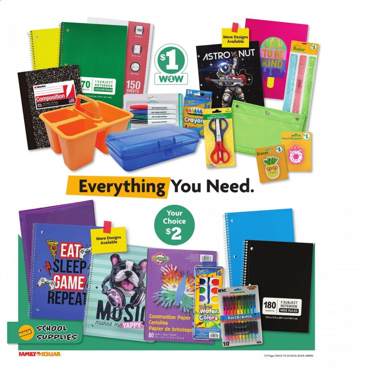 Family Dollar Back to School Ad from july 11 to august 14 2021 - Page 4