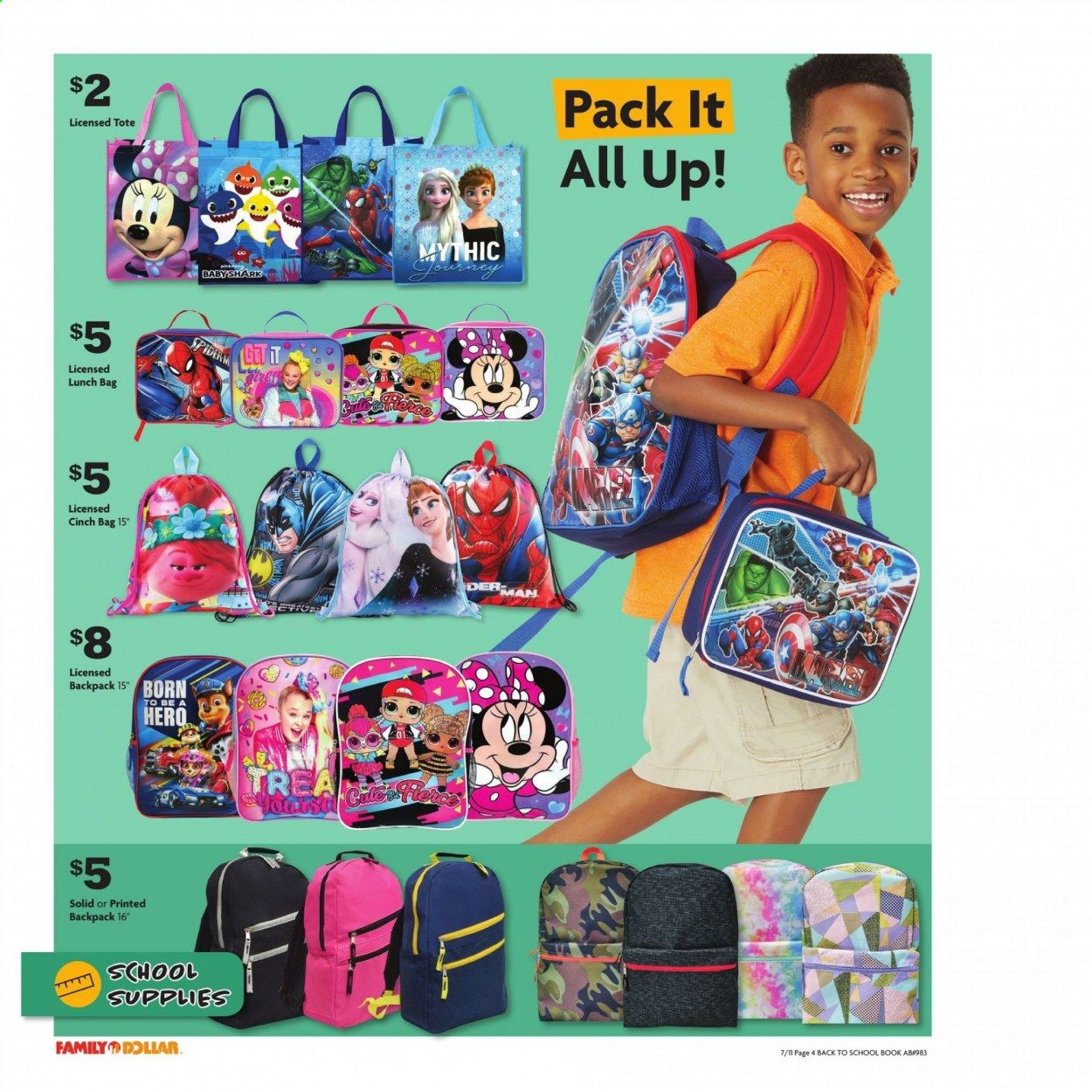 Family Dollar Back to School Ad from july 11 to august 14 2021 - Page 5