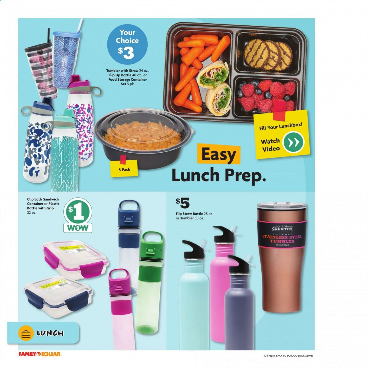 Family Dollar Back to School Ad from july 11 to august 14 2021 - Page 6