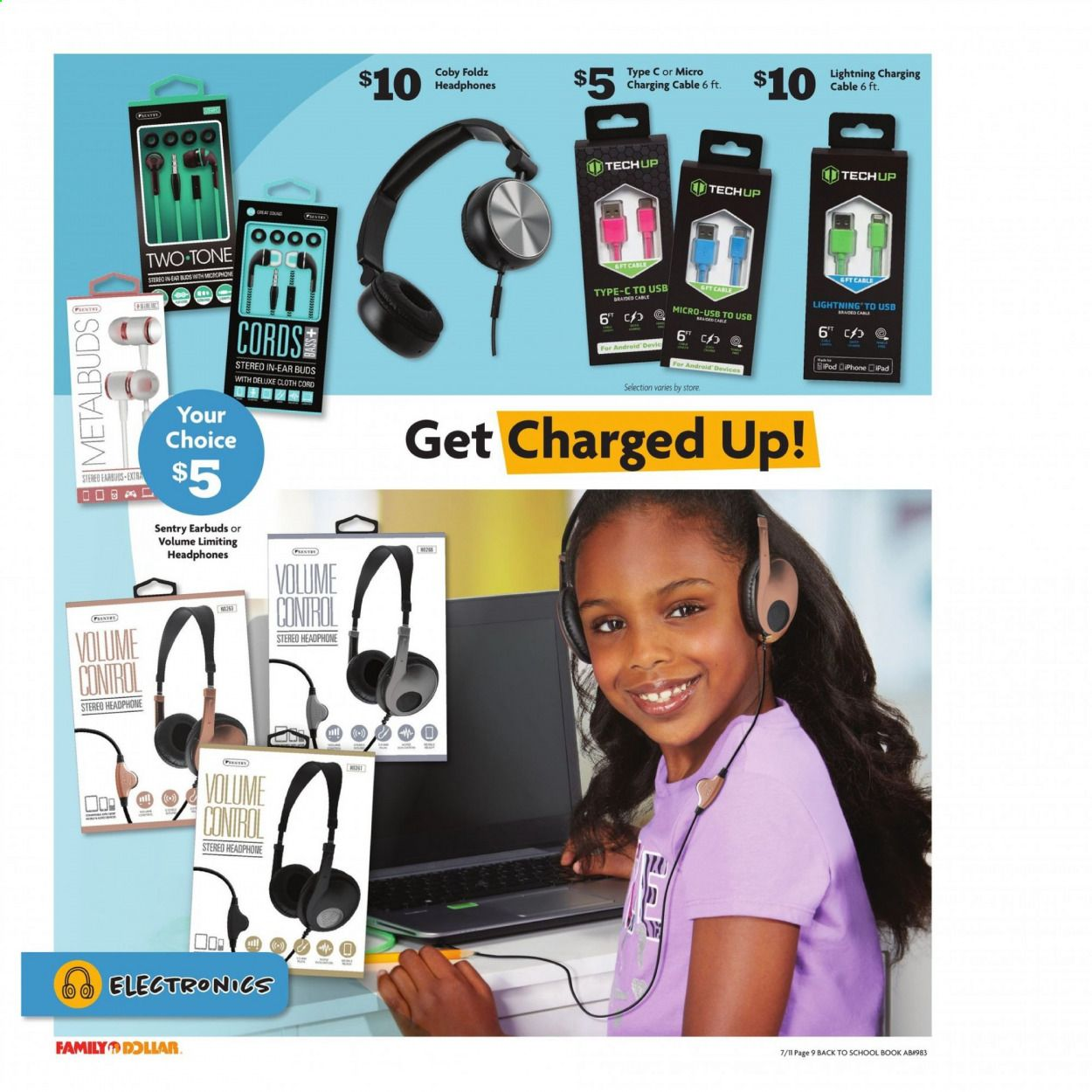 Family Dollar Back to School Ad from july 11 to august 14 2021 - Page 10