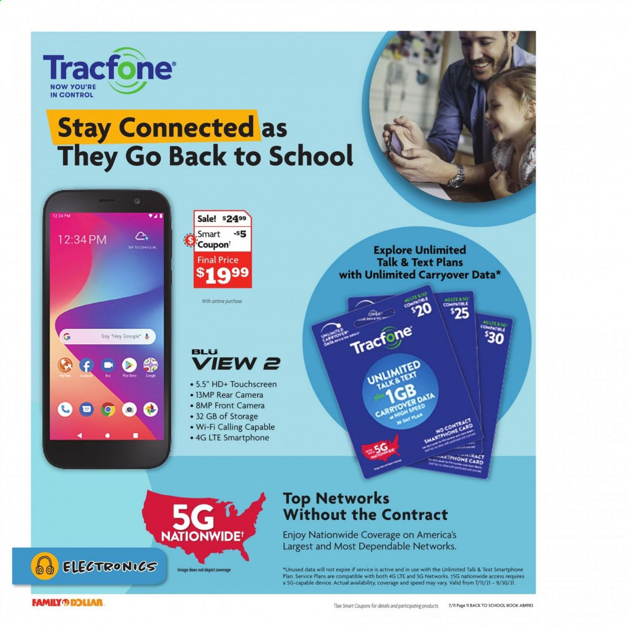 Family Dollar Back to School Ad from july 11 to august 14 2021 - Page 12