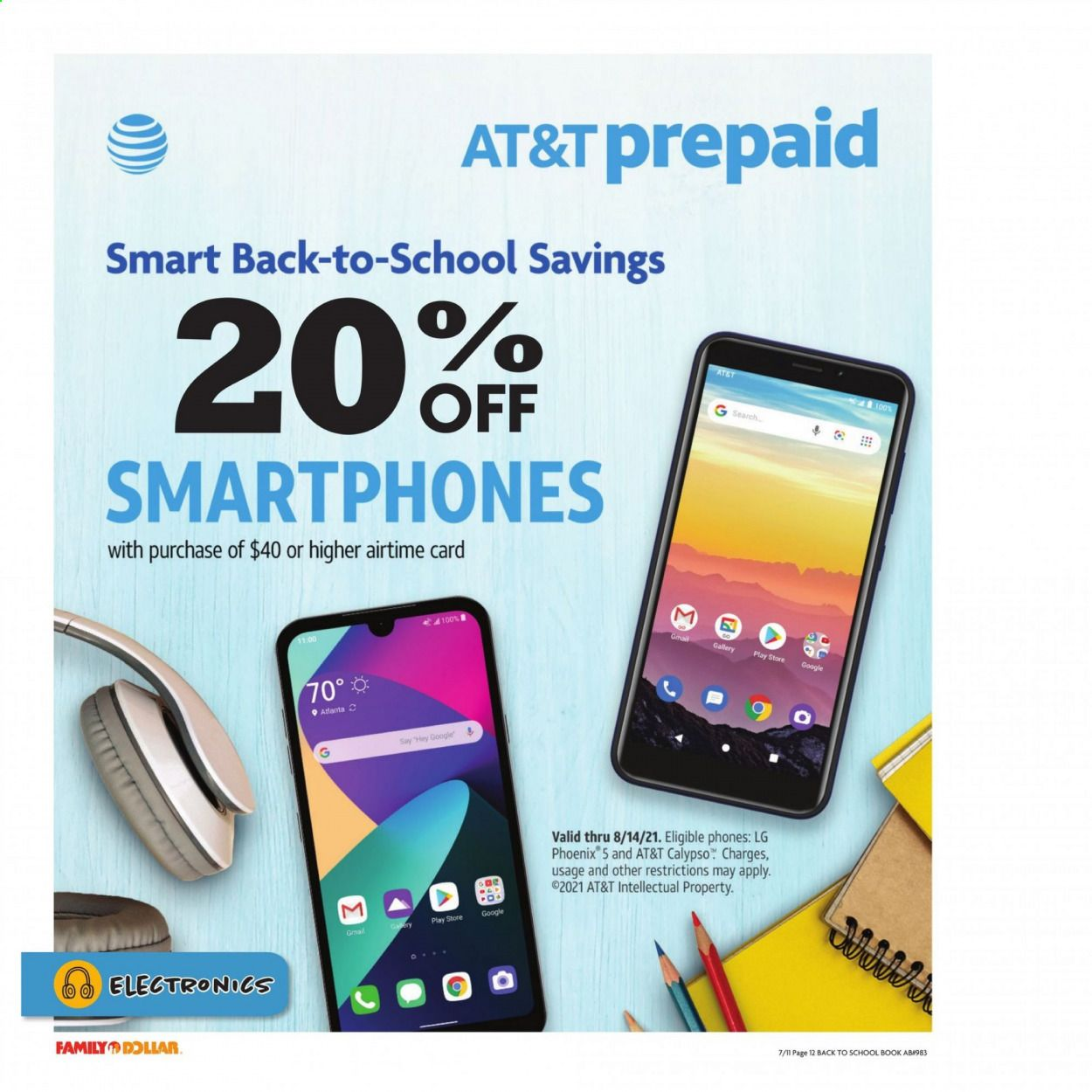 Family Dollar Back to School Ad from july 11 to august 14 2021 - Page 13