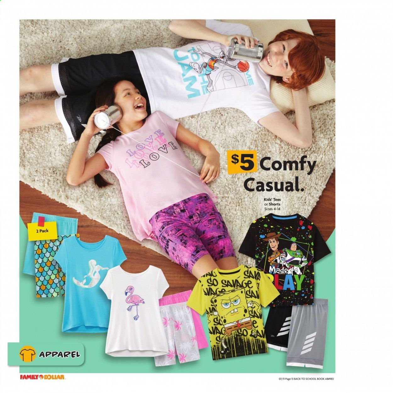 Family Dollar Back to School Ad from july 11 to august 14 2021 - Page 14