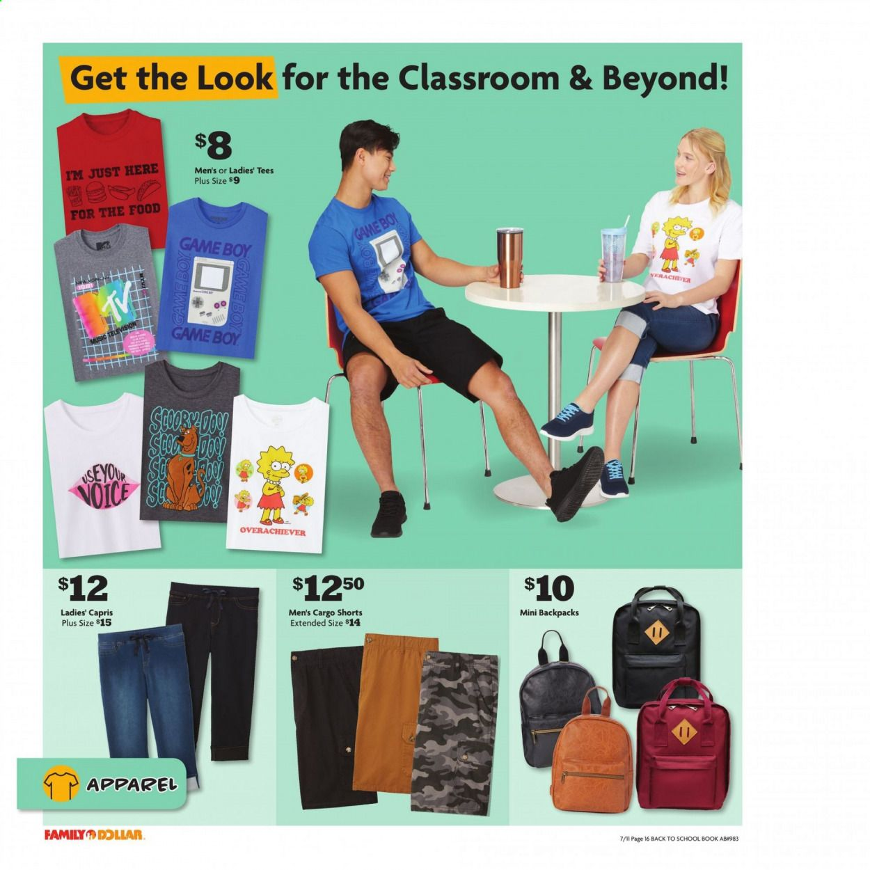 Family Dollar Back to School Ad from july 11 to august 14 2021 - Page 17