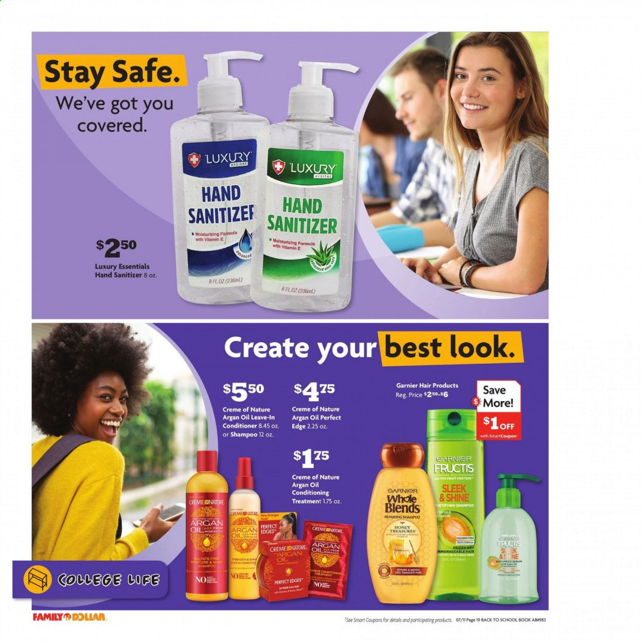 Family Dollar Back to School Ad from july 11 to august 14 2021 - Page 20