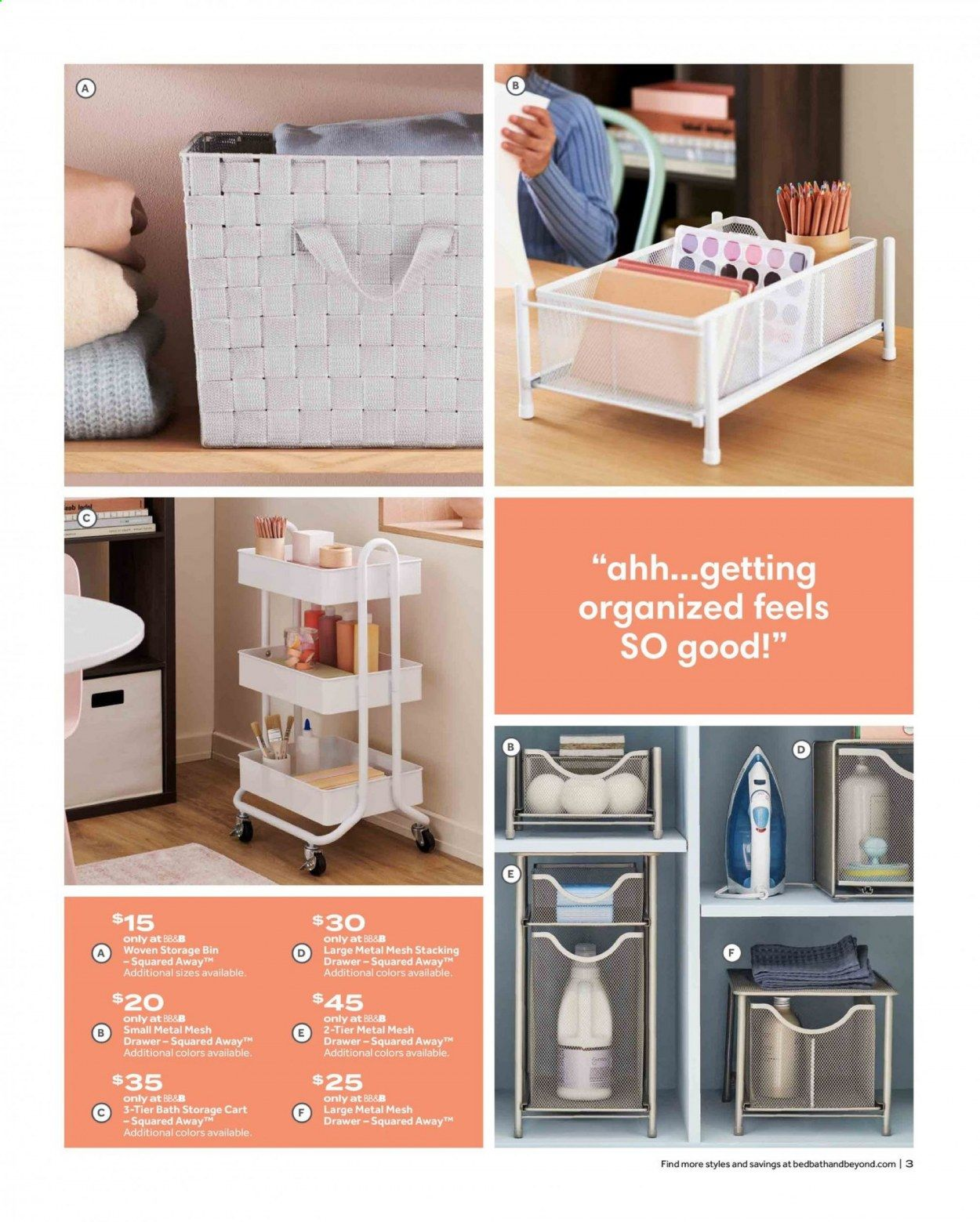 Bed Bath & Beyond Ad from july 12 to 25 2021 - Page 3