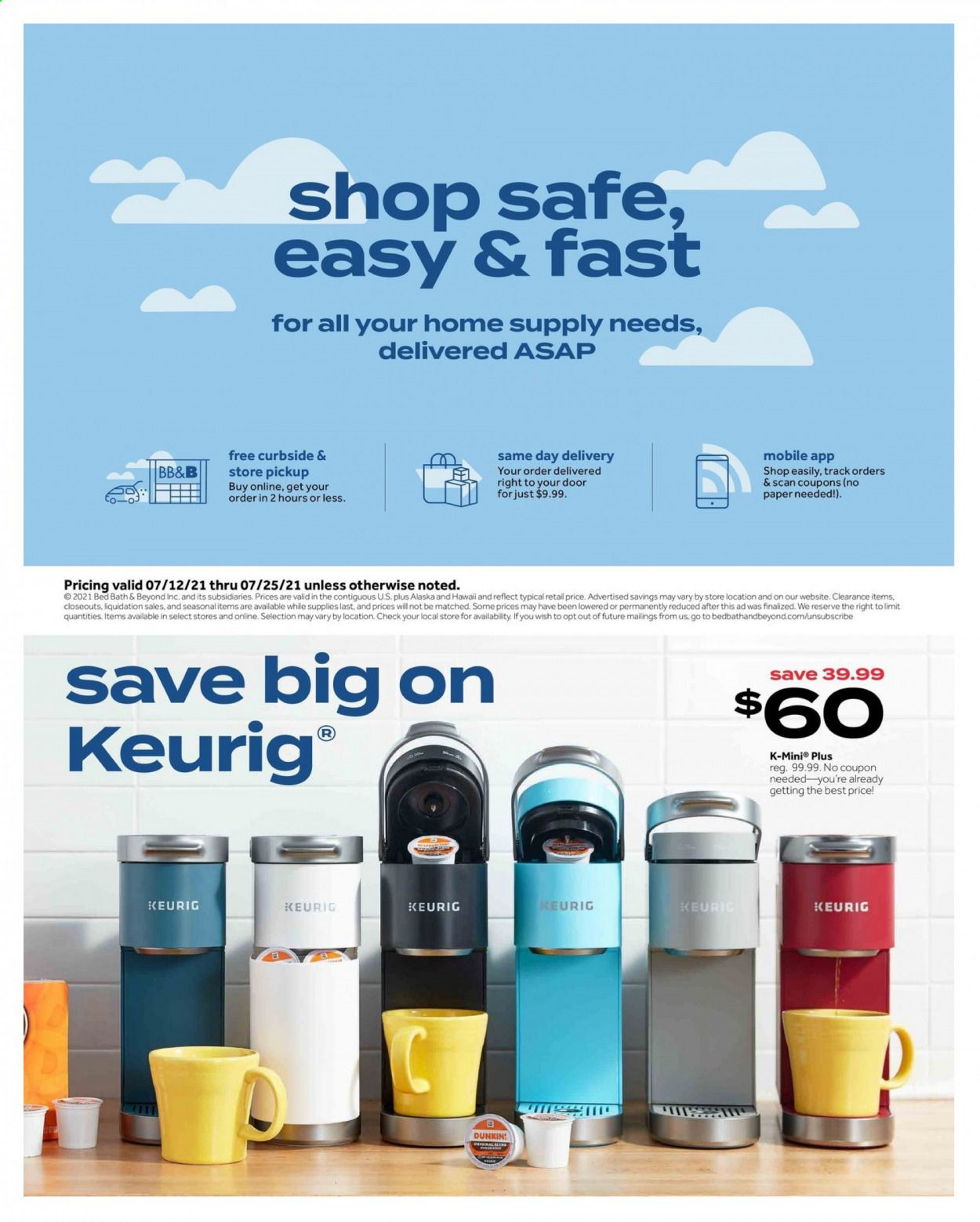 Bed Bath & Beyond Ad from july 12 to 25 2021 - Page 20