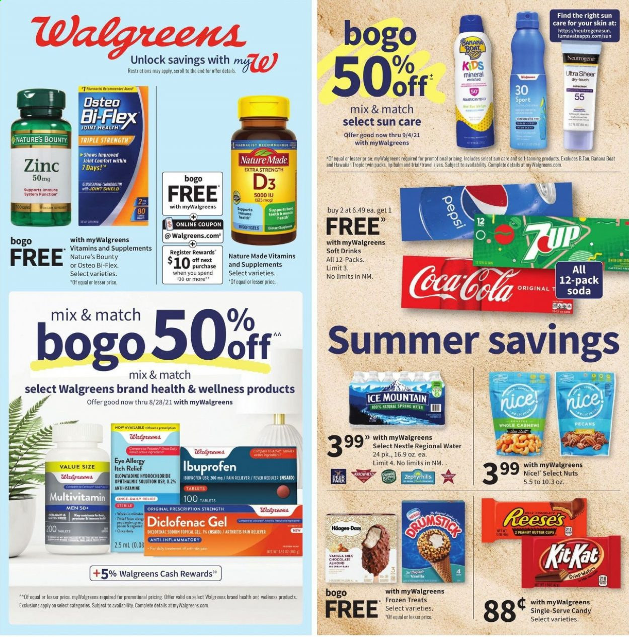 Walgreens Ad from july 18 to 24 2021 - Page 1