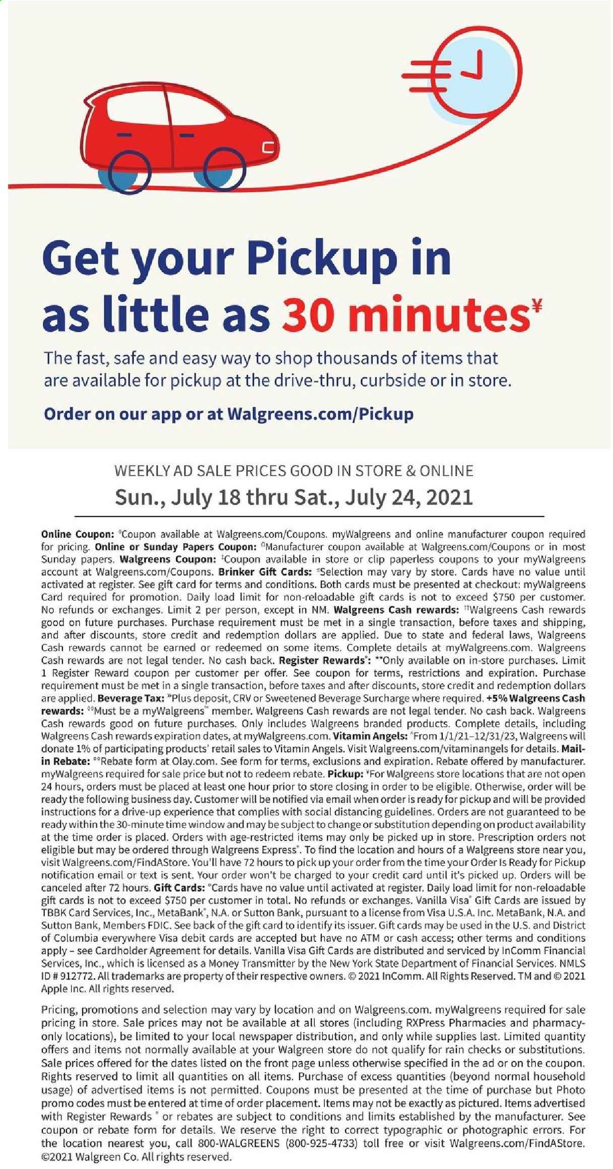 Walgreens Ad from july 18 to 24 2021 - Page 21