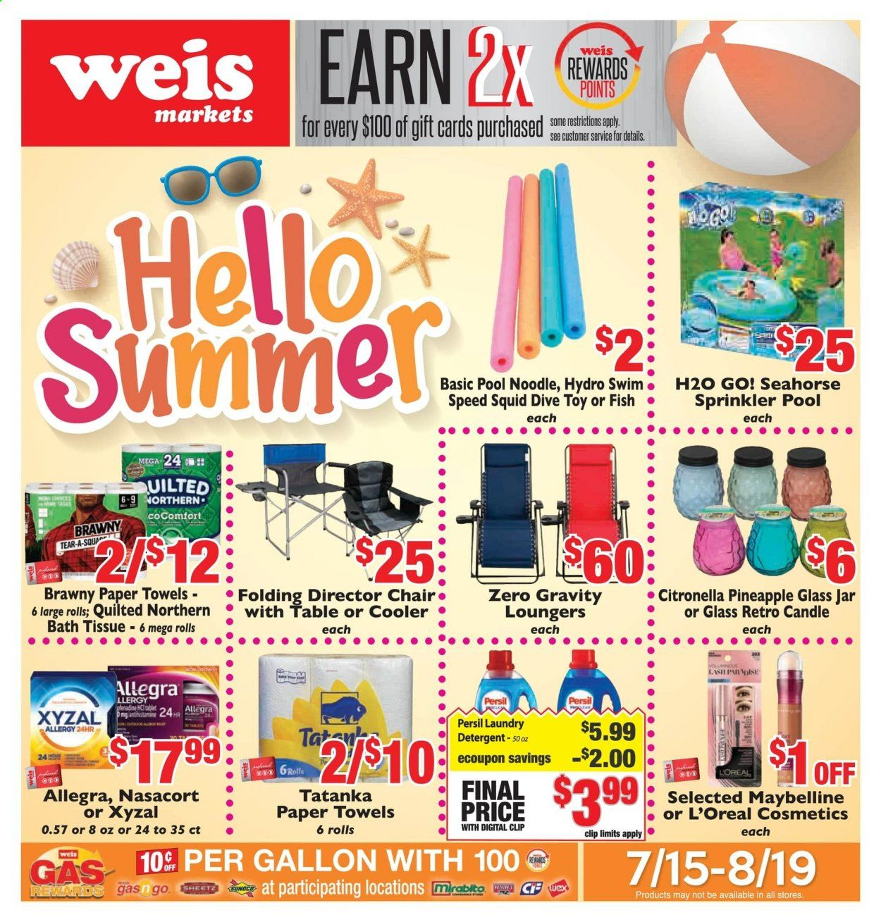 Weis Markets Ad from july 15 to august 19 2021 - Page 1