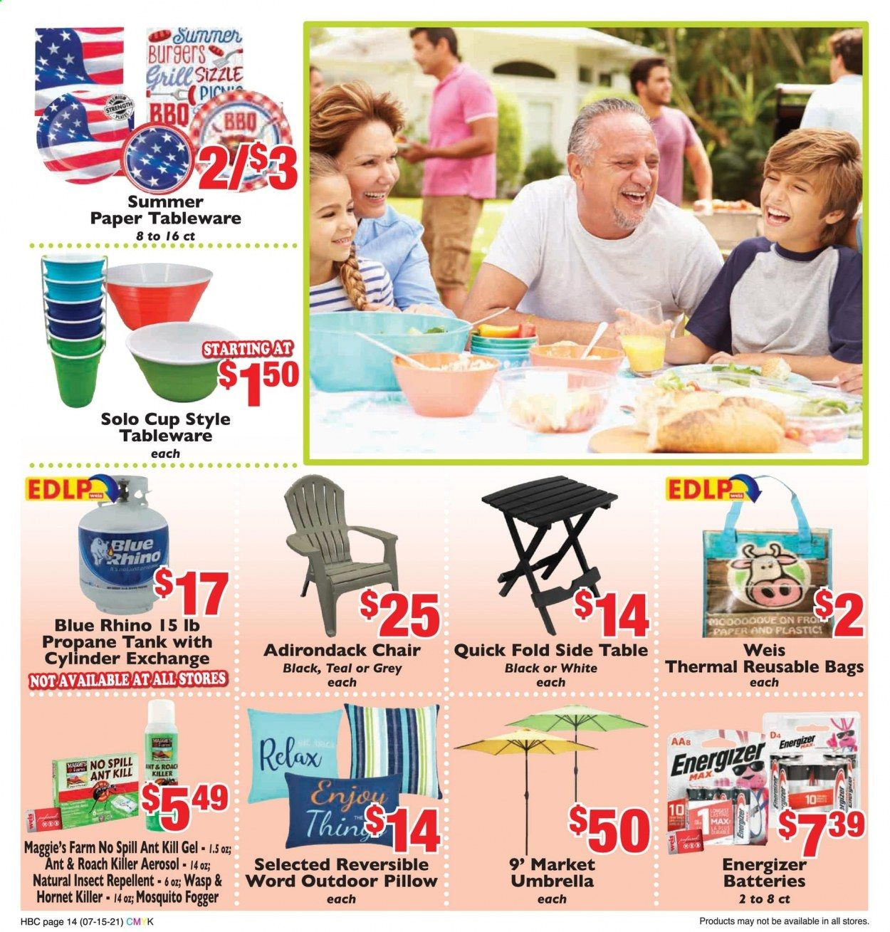 Weis Markets Ad from july 15 to august 19 2021 - Page 14