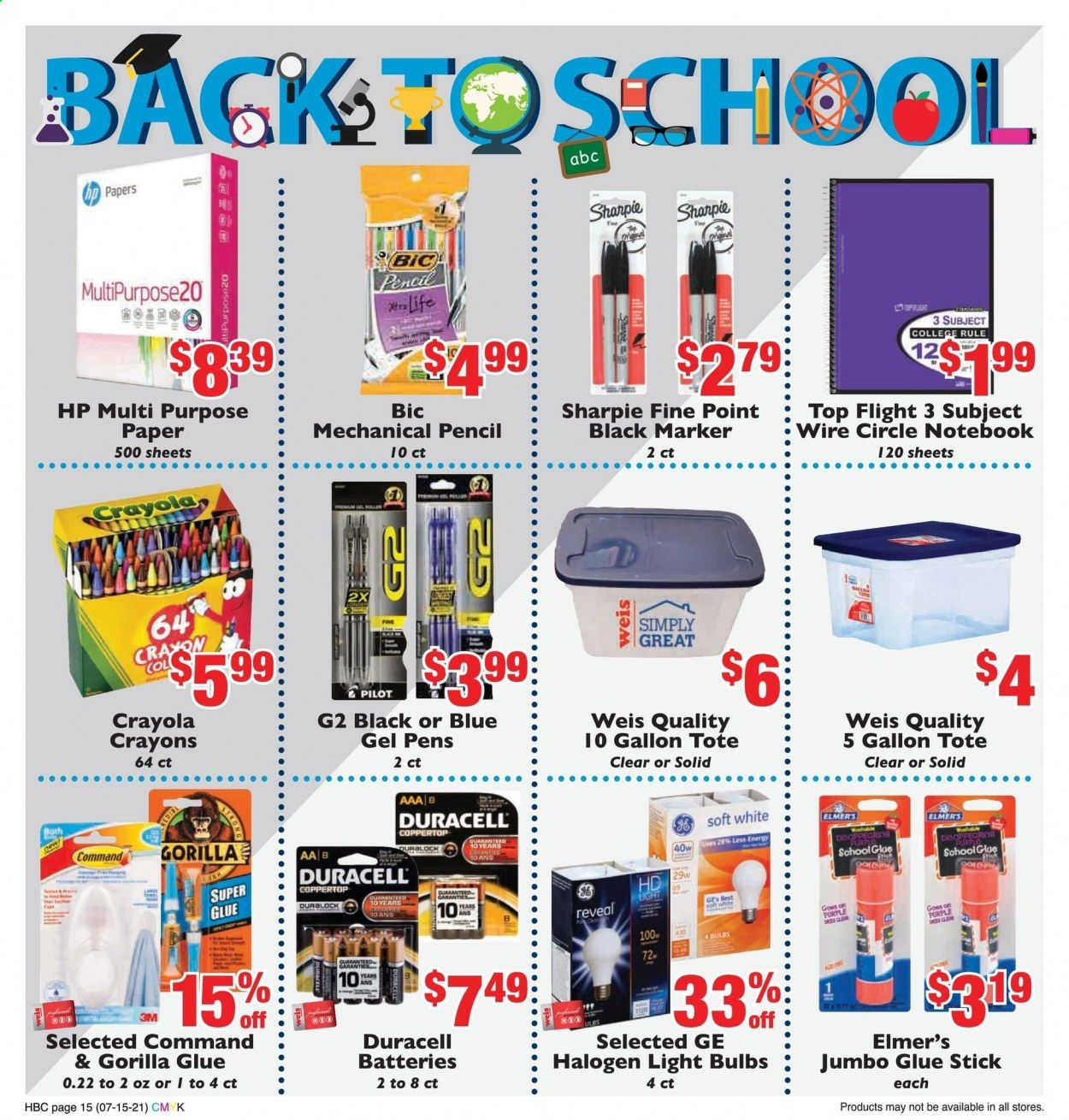 Weis Markets Ad from july 15 to august 19 2021 - Page 15