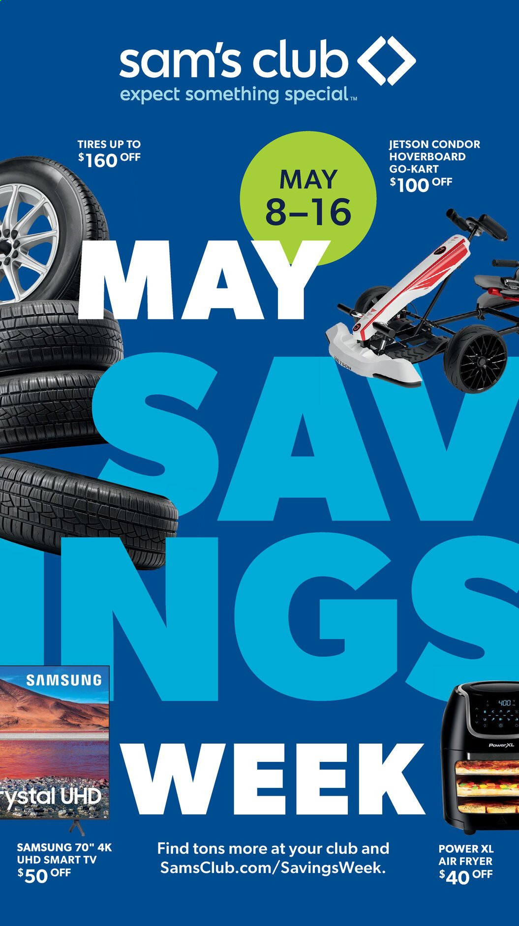 Sam's Club Ad from may 8 to 16 2021