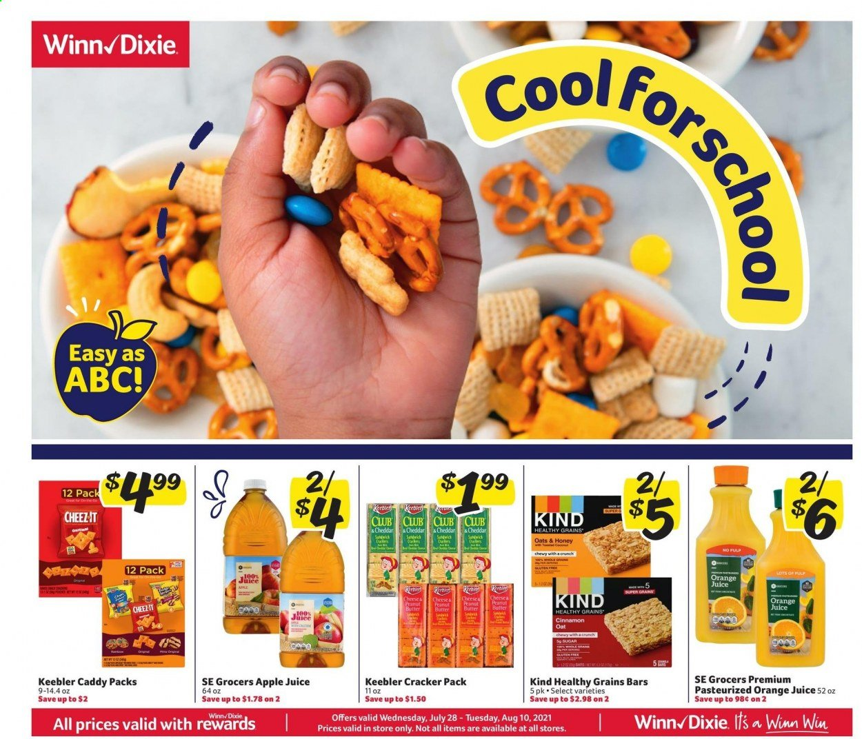 Winn-Dixie Ad from july 28 to august 10 2021 - Page 1