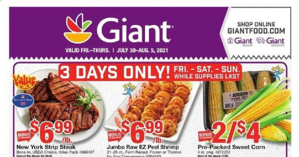 Giant Ad from july 30 to august 5 2021