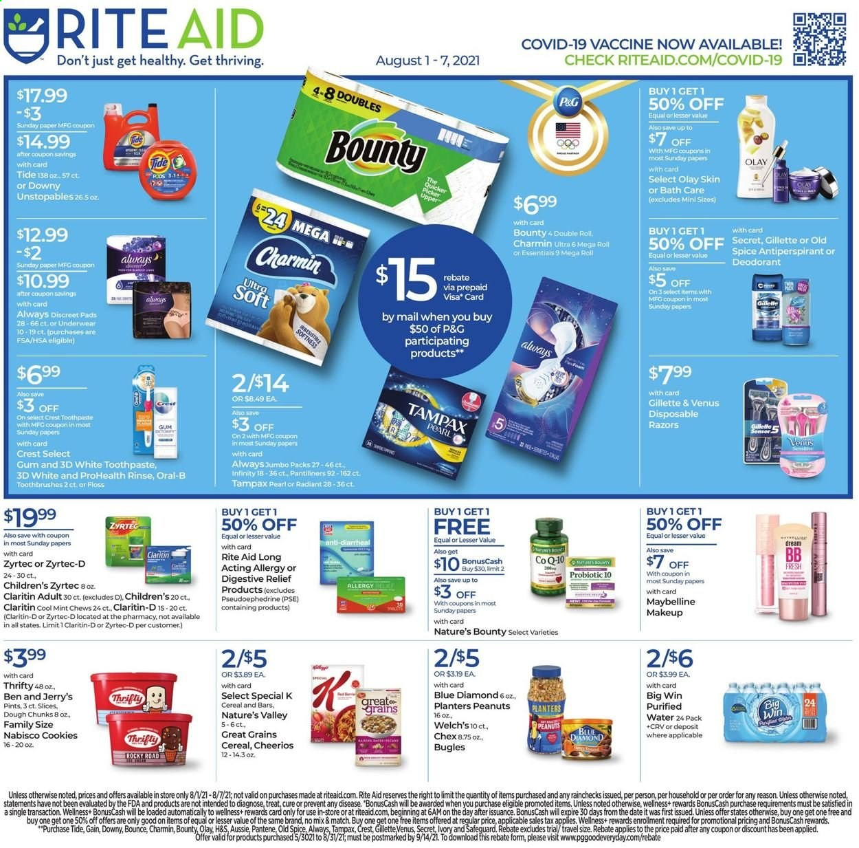 Rite Aid Ad from august 1 to 7 2021 - Page 1